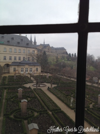 View over Residenz gardens