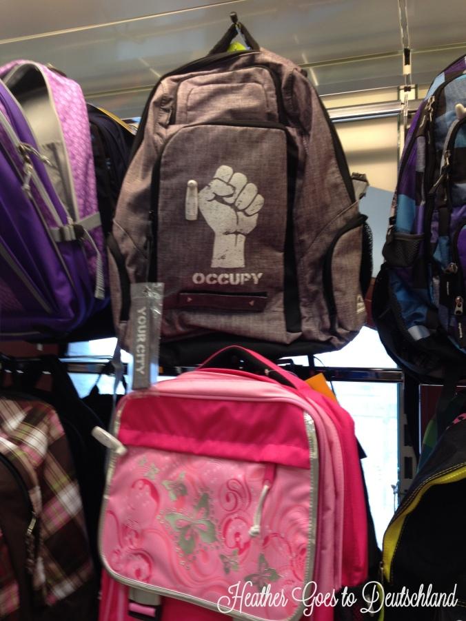 occupy backpacks