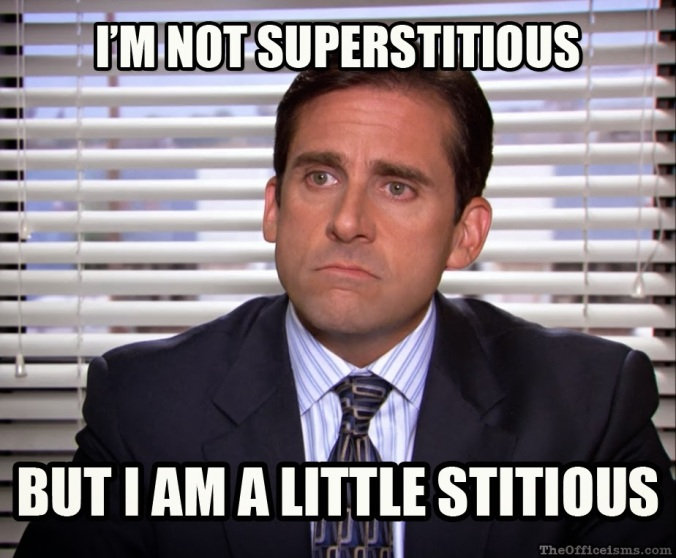 superstitious michael scott