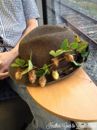 BV's hat ready for Oktoberfest.