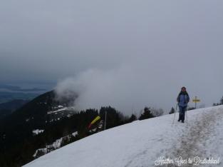Still a bit snowy at the top.