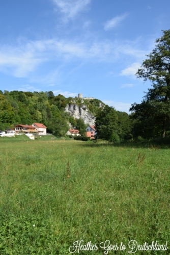 View back to Kallmünz on our hike.