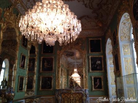 Chandeliers on chandeliers in the Munich Residenz.