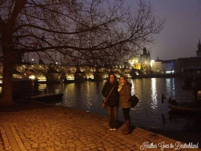 Holly and I in Praha