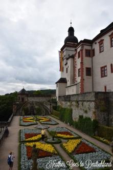 Würzburg castle gardens.