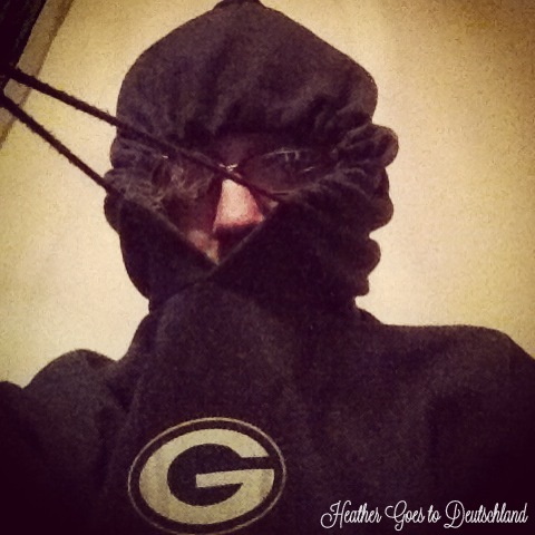 Here I model my hoodie during a stressful game circa 2013.