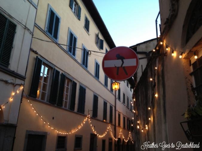 Tuscan streets.